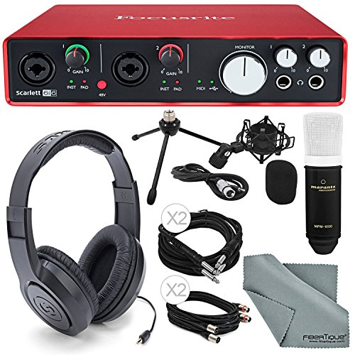 Focusrite Scarlett 6i6 USB Audio Interface and Deluxe Accessory