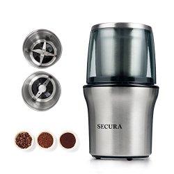 Secura Electric Coffee Grinder & Spice Grinder