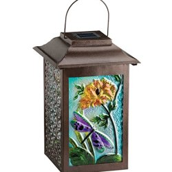 Regal Arts 16.5 Inch Solar Garden Dragonfly Lantern