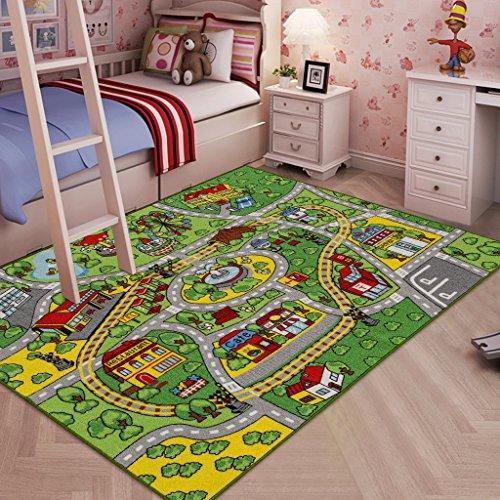 JACKSON Large Kid Rug for Toy Cars,Car Rug Carpet
