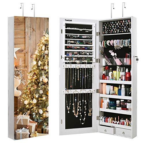 TomCare Jewelry Cabinet Jewelry Armoire Wall Door