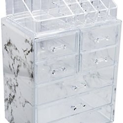 Sorbus Luxe Marble Cosmetic Makeup and Jewelry
