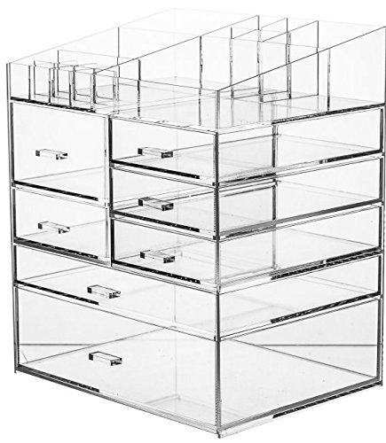 Cq acrylic Extra Large 6 Tier Clear Acrylic Cosmetic Makeup
