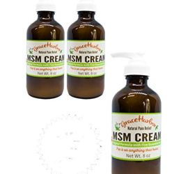 Three 8 Ounce Bottles MSM Cream