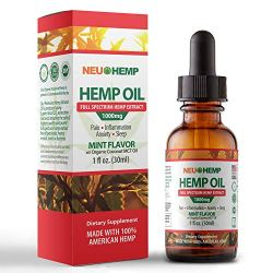 Hemp Oil for Pain Relief -1000 mg Full Spectrum Extract