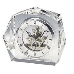 Upper Gifts Elegant Crystal Desk Clock