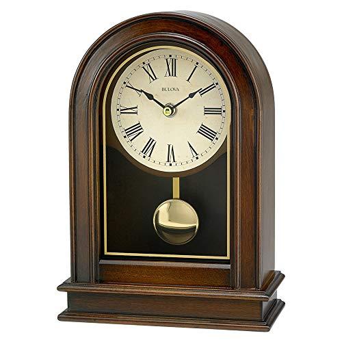 Bulova Hardwick Clock Walnut Brown