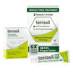 Terrasil Tinea Treatment 2-Product Ointment and Cleansing