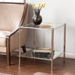 Southern Enterprises Paschall End Table, Metallic