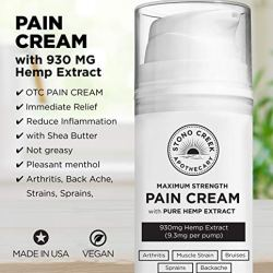 Cooling Pain Relief Cream with MG Hemp Extract