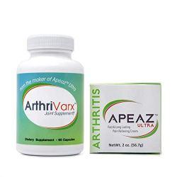 Apeaz Pain Relief Cream & ArthriVarx Joint Supplement
