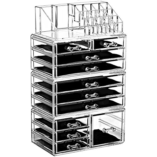 Ikee Design Acrylic Jewelry Makeup Drawer Organizer