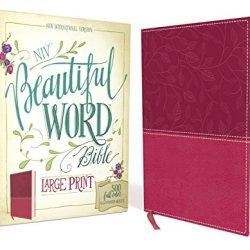 NIV, Beautiful Word Bible, Large Print, Leathersoft