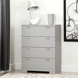 South Shore Reevo 4-Drawer Chest, Soft Gray