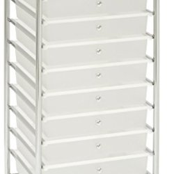 Seville Classics Large 10-Drawer Organizer Cart, White