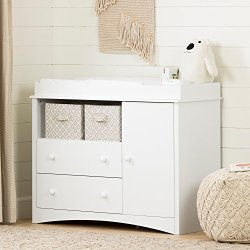South Shore Peak Changing Table with 2 Drawers