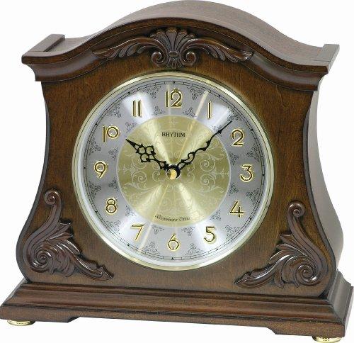 "Rhythm Clocks ""Versaillies II"" Wooden Musical Mantel Clock"