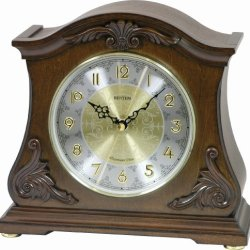 "Rhythm Clocks ""Versaillies II"" Wooden Musical Mantel Clock"