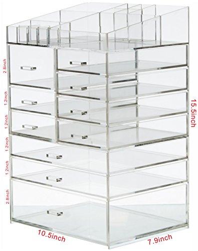 Cq acrylic Extra Large 8 Tier Clear Acrylic
