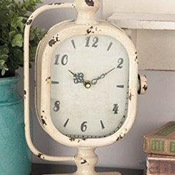 """Deco Metal Clock, 2 Assorted, 8 by 14"""""""