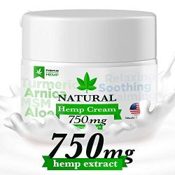 Hemp Cream Pain Relief, Organic Formula