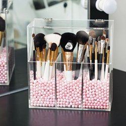 Newslly Clear Acrylic Makeup Organizer