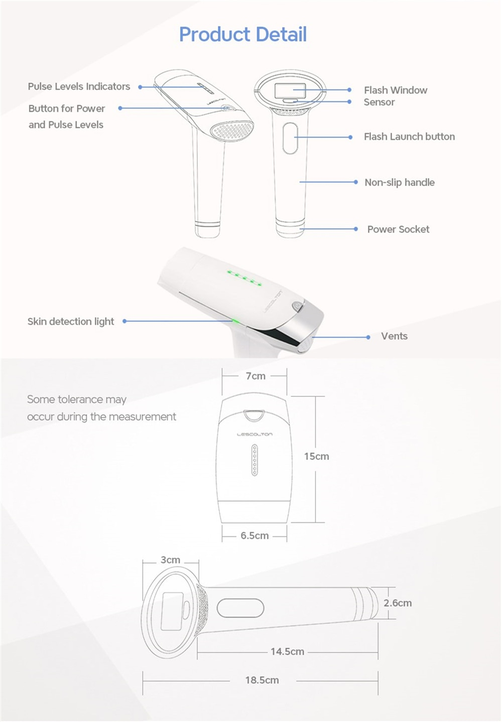 lescolton 2in1 laser hair removal machine IPL epilator pigmentation apparatus 700000 times home use beauty device depilador T009 16