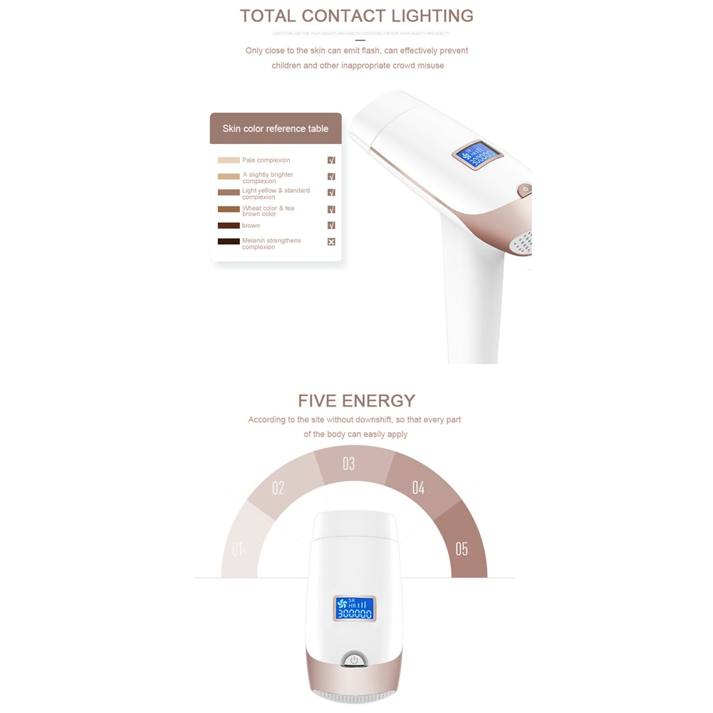 Portable Handheld IPL Laser Hair Removal Machine Epilator Permanent Trimmer Electric Depilador For Adult Body Face 10
