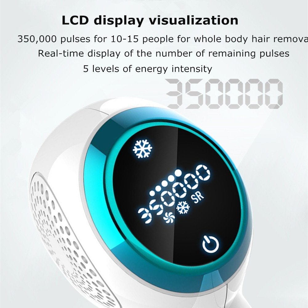 Painless Home Use Permanent Hair Removal for Women WPL ICE Cool Integrated 350,000 Flashes Touch LCD Screen laser hair removal 2