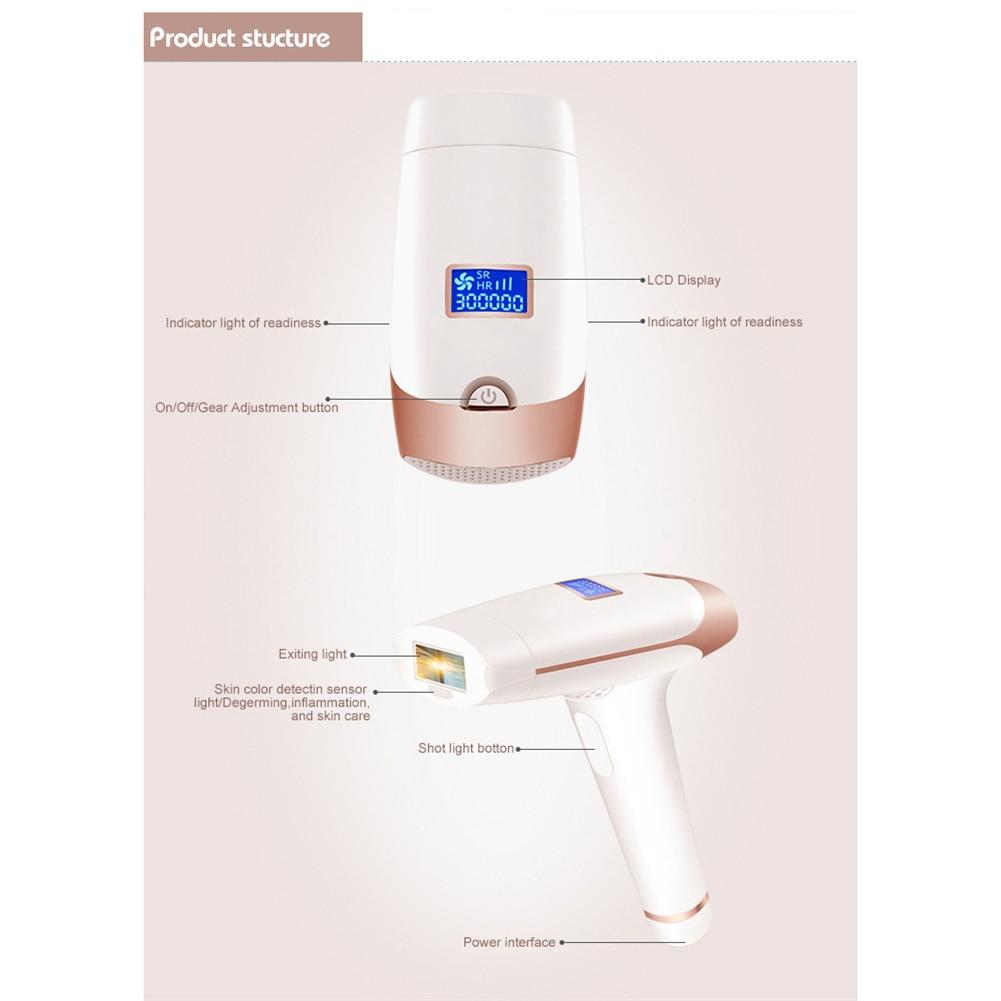 Portable Handheld IPL Laser Hair Removal Machine Epilator Permanent Trimmer Electric Depilador For Adult Body Face 16