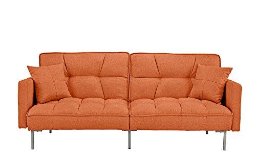 Modern Plush Tufted Linen Fabric Splitback