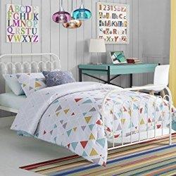 Novogratz Bright Pop Metal Bed, Adjustable Height