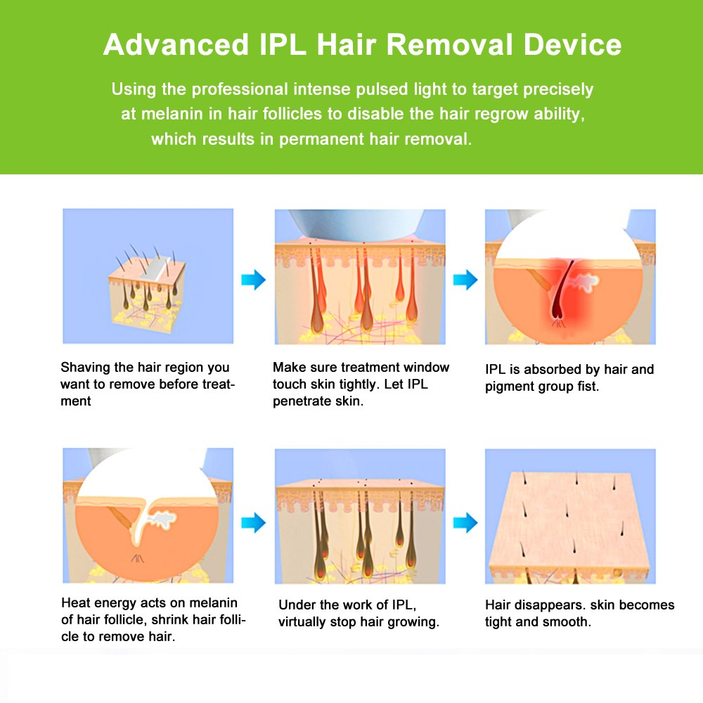 lescolton 2in1 laser hair removal machine IPL epilator pigmentation apparatus 700000 times home use beauty device depilador T009 12