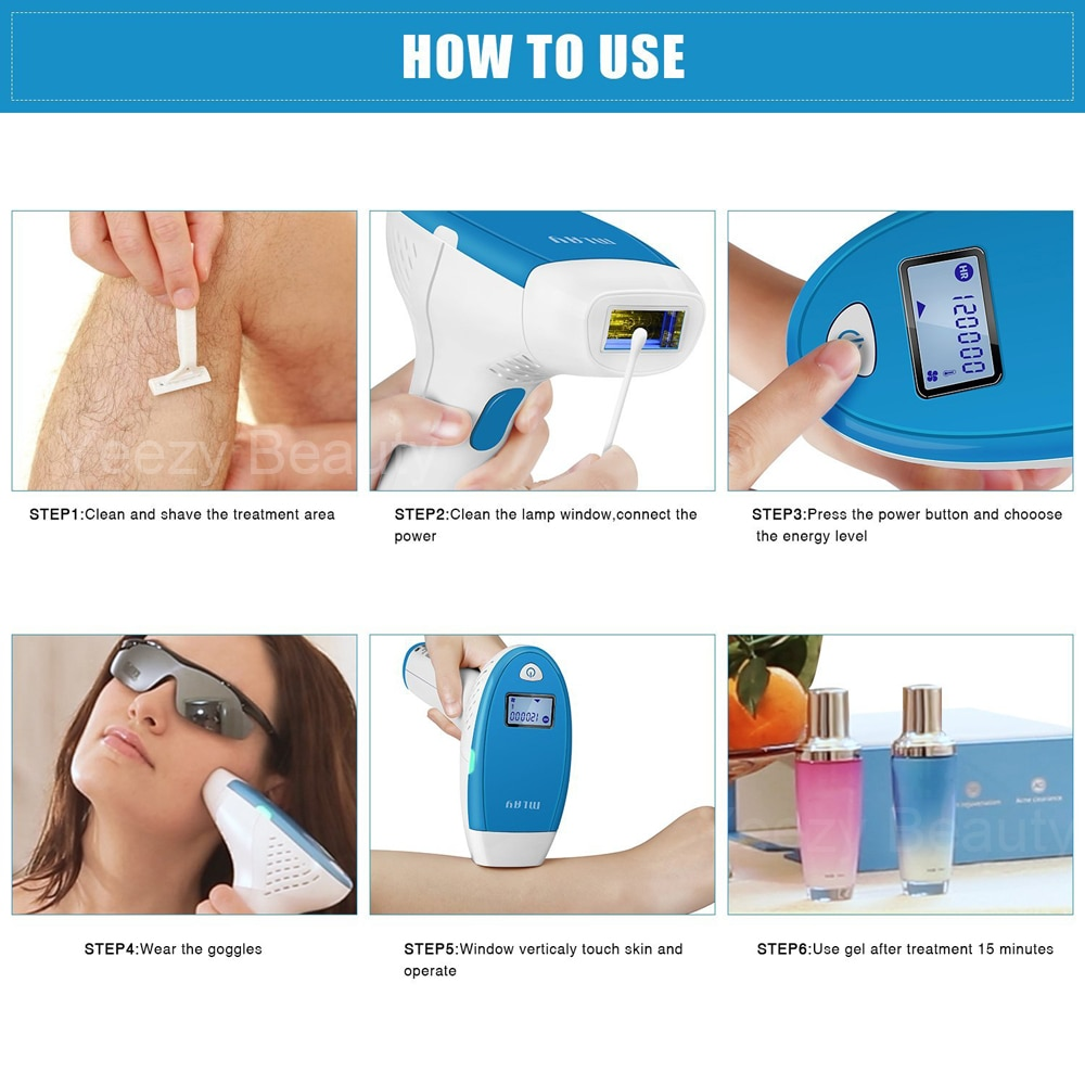 Mlay Portable home use skin rejuvenation ipl laser hair removal machine with hair removal lamp 300000 shots for Free Shipping 19
