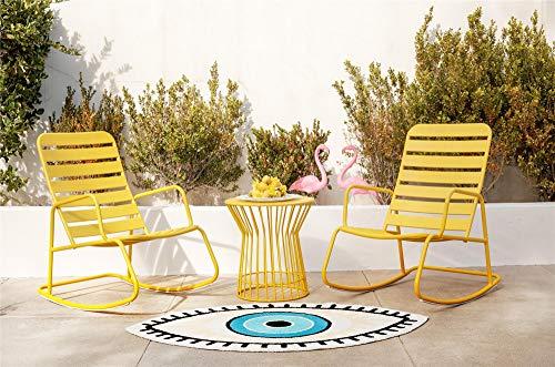 Novogratz 3 Piece Poolside Roberta Rocker Set, Yellow