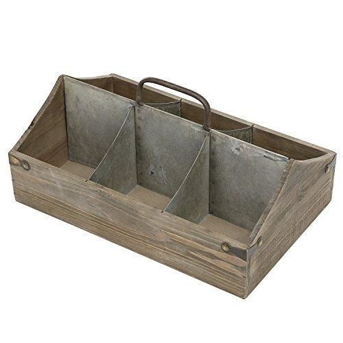 MyGift Vintage Wood Organizer Caddy, Decorative Storage Crate