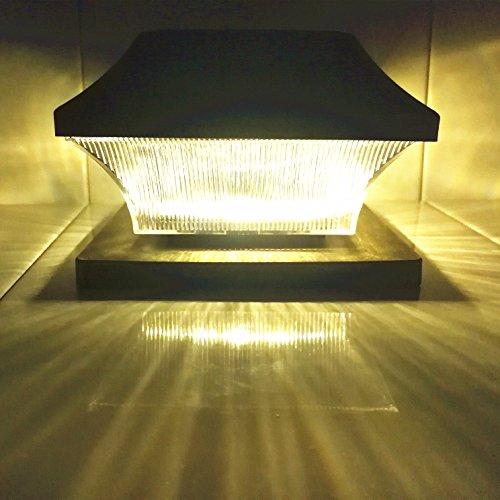 Solar Post Cap Lights Outdoor 5 Quot Root Vinyl Silver Lantern