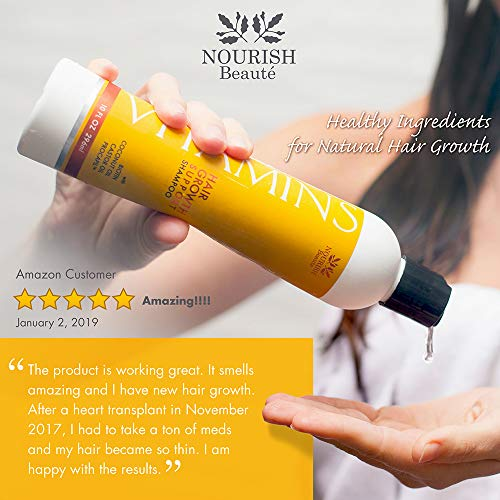 Nourish Beaute Vitamins Shampoo for Hair Loss that Promotes Hair Regrowth FOR HUGE SAVINGS SEE SPECIAL OFFERS ABOVE