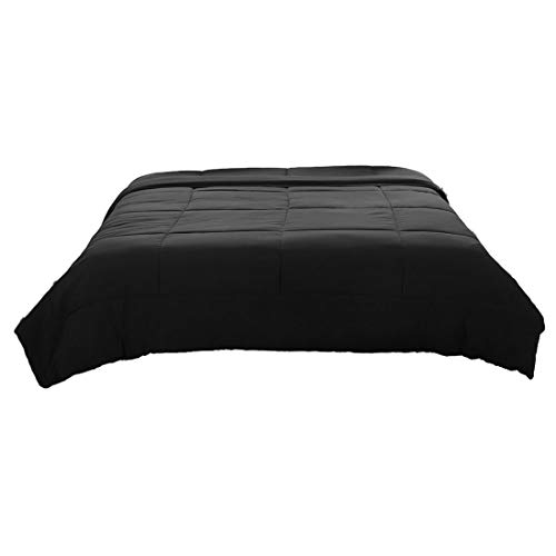 PICCOCASA Full/Queen Black Down Alternative Quilted Comforter