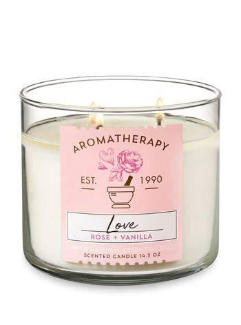 Bath & Body Works 3-Wick Aromatherapy Candle in LOVE