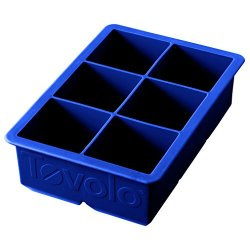 Tovolo King Cube Ice Mold Tray, Long Lasting Sturdy Silicone