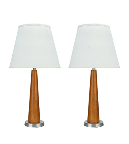 Aspen Creative , Two Pack Set High Transitional Wooden Brown