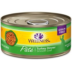 Wellness Natural Grain Free Wet Canned Cat Food, Turkey Pate