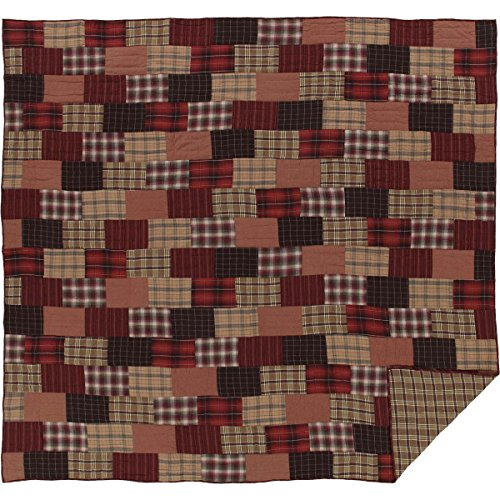 VHC Brands Rustic & Lodge Bedding - Wyatt Red Quilt