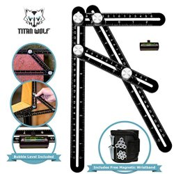 Premium Aluminum Laser Engraved Multi Angle Measuring Ruler
