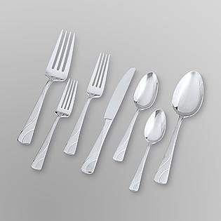 Oneida 42-piece River Textured Flatware Set