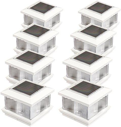GreenLighting (8 Pack) Solar LED Post Cap Light