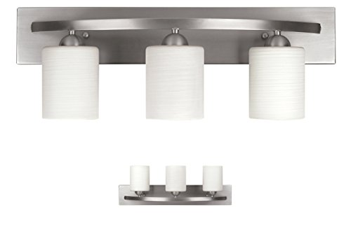 WholesalePlumbing 3 Bulb Vanity Light Fixture Bath Interior Lighting