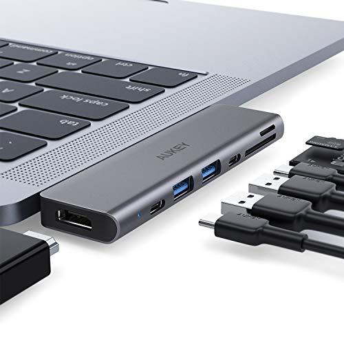 AUKEY USB C Hub Adapter for MacBook Pro with 4K HDMI
