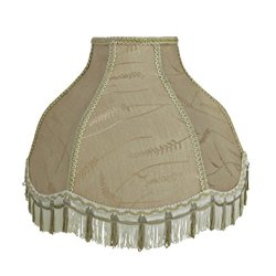 "Aspen Creative 17"" Wide (6"" x 17"" x 12"") Transitional Scallop Bell Shape Spider"